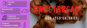 sweetbread nutrition